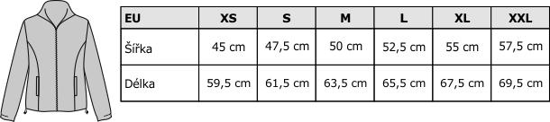 Velikostní tabulka FLRL 300