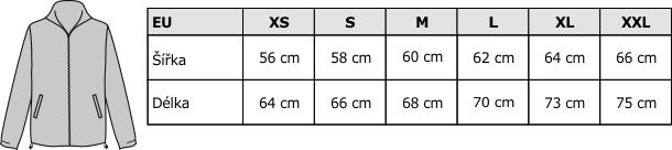 Velikostní tabulka FLRA 300