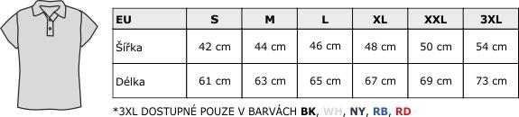 Velikostní tabulka POPL 200